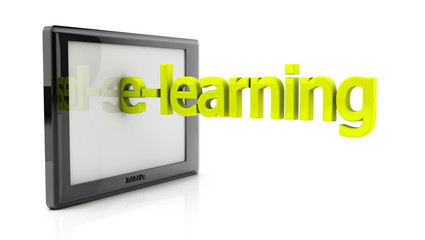 3d tablet pc and e-learning