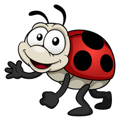 illustration of cartoon Lady bug