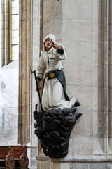 Statue in Saint Barbara cathedral