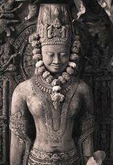 Buddha's stone figure.