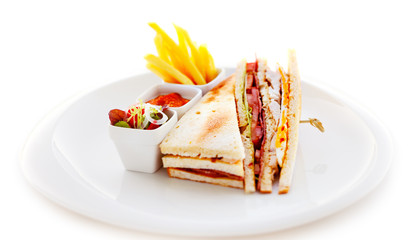 The club sandwich is the most common item on every hotel menu
