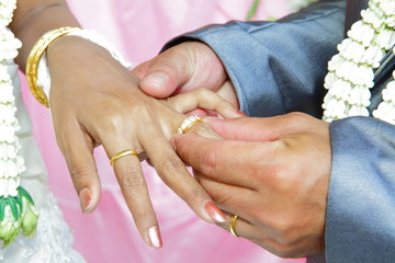 Close up of young woman holding man hand