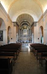 La nef de l'église du sanctuaire Sant Salvador de Felanitx à Maj
