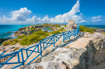 View on the southern tip of Isla Mujeres, Mexico