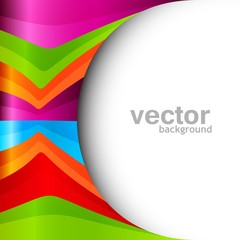 abstract shiny colorful technology stylish wave design vector