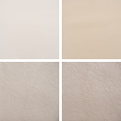 Set from backgrounds of leather texture