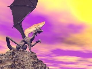 Papiers peints Dragons Quiet dragon - 3D render