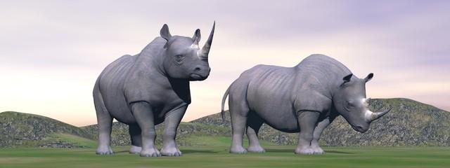 Lost rhinoceros - 3D render