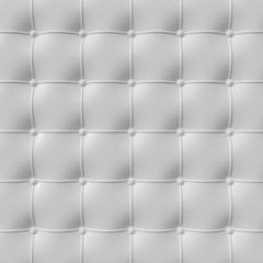 Keuken foto achterwand Leder white padded leather
