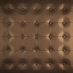 Foto auf Leinwand Leder gold padded leather