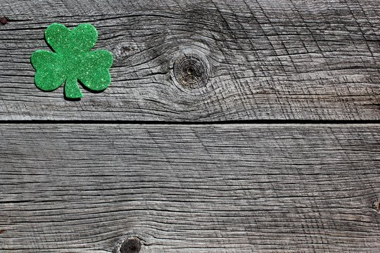 Four leaf clover background for St. Patrick's day announcement