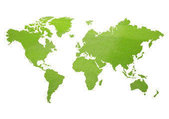 Tuinposter Wereldkaart Green World Map