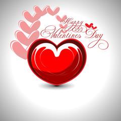 Beautyful shiny heart valentines day festivel with gray backgrou