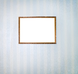 Pictur in grunge frames on a wall