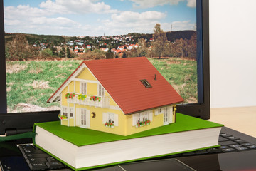 House on laptop