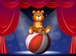 Canvas Prints Bears A circus show with a bear
