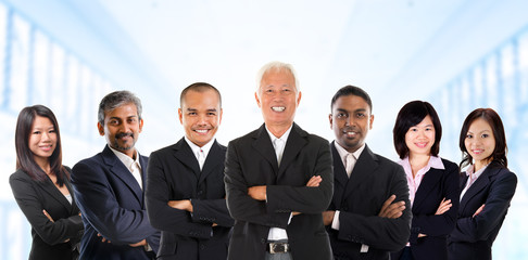Asian business team in multiracial.