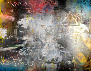Abstract grunge background, colorful illustration
