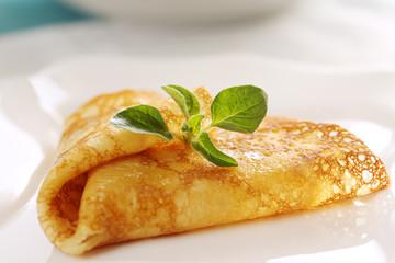 Pancake with oregano