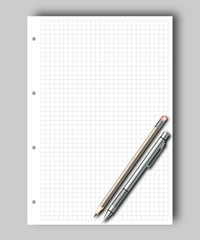 Sketch pad and pencil