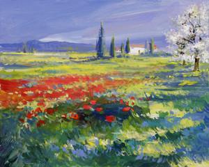 sommer landschaft malerei