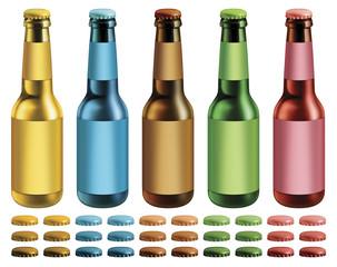 Labeled Beer Bottles