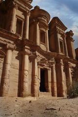 Facade of Monastery at Petra, Jordan