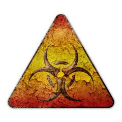 Biohazard Schild Alt