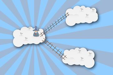 Printed roller blinds Heaven Cloudscape