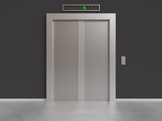 elevator with closed doors