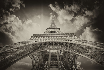 Wall Mural - Beautiful view of Eiffel Tower in Paris