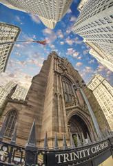 Fototapete - Trinity Church in New York City