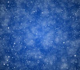 Stars on a blue background