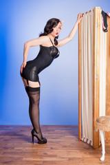 Retro boudoir girl