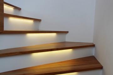 beleuchtete treppe III Fototapete
