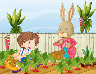 The gardener and the bunny