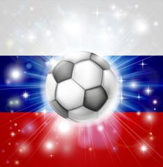 Russian soccer flag