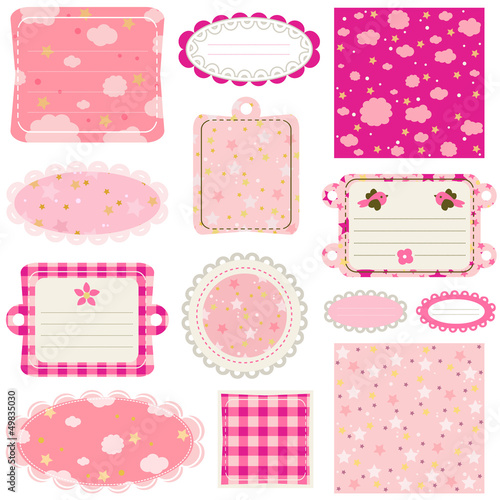 Elements For Baby Scrapbook Stock Image And Royalty Free Vector
