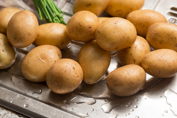 Fresh washed potatoes