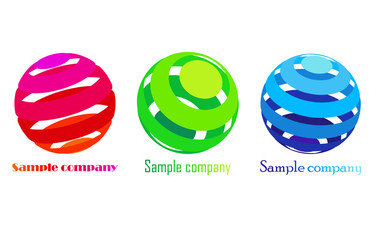 vector colorful sphere icons