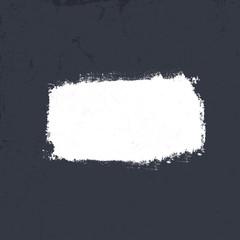 White grunge label on dark textured background. Vector, EPS10