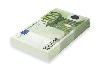 hundred-euro bills, paper money
