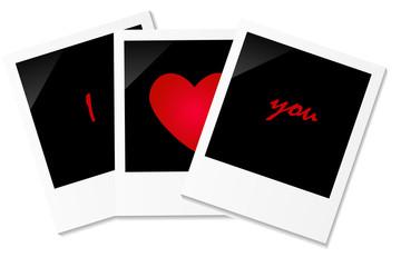 Drei Polaroids