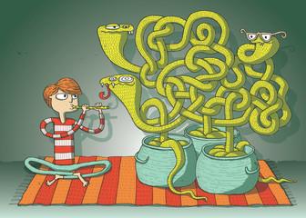 Cobra Snakes Maze Game
