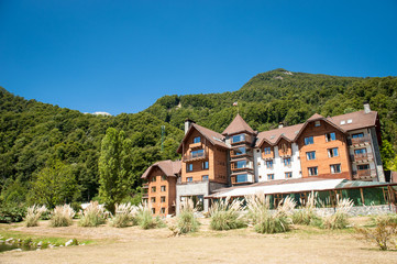 Beautiful hotel at the mountains