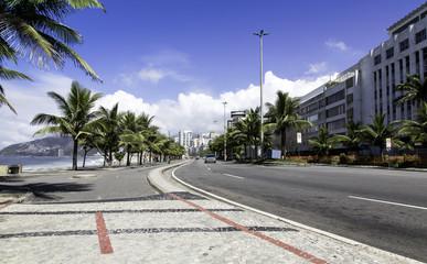 Road by Ipanema Beach in Rio de Janeiro