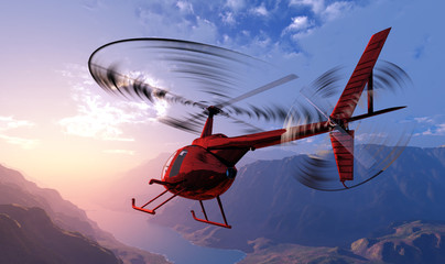 Printed kitchen splashbacks Helicopter Civilian helicopter