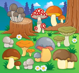 Aluminium Prints Magic world Mushroom theme image 4