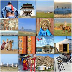 Collage carré Mongolie