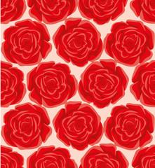 Red Rose Seamless Pattern